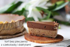 torcik daktylowy z czekoladą