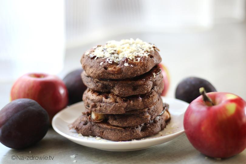 czekoladowe racuchy z jabłkami