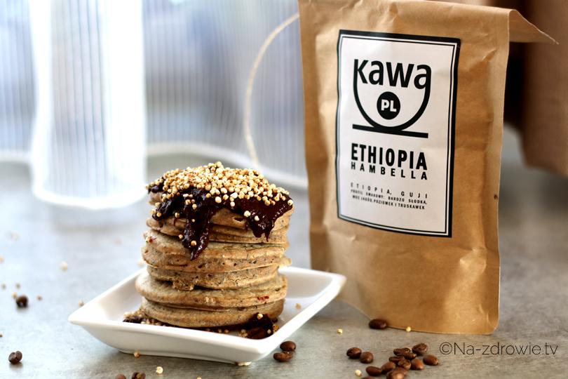 wegańskie pancakes z makiem i kawą