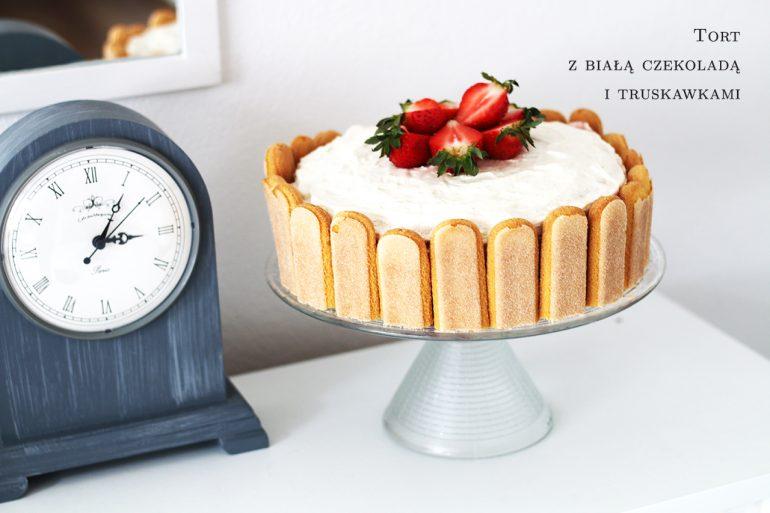 tort z białą czekoladą